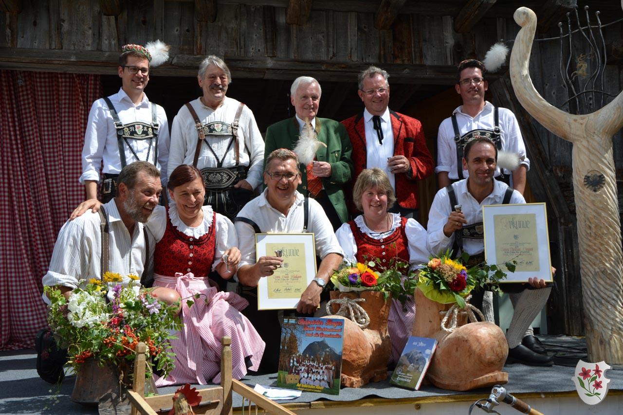 Jubilare beim Waldfest anno dazumal 2017